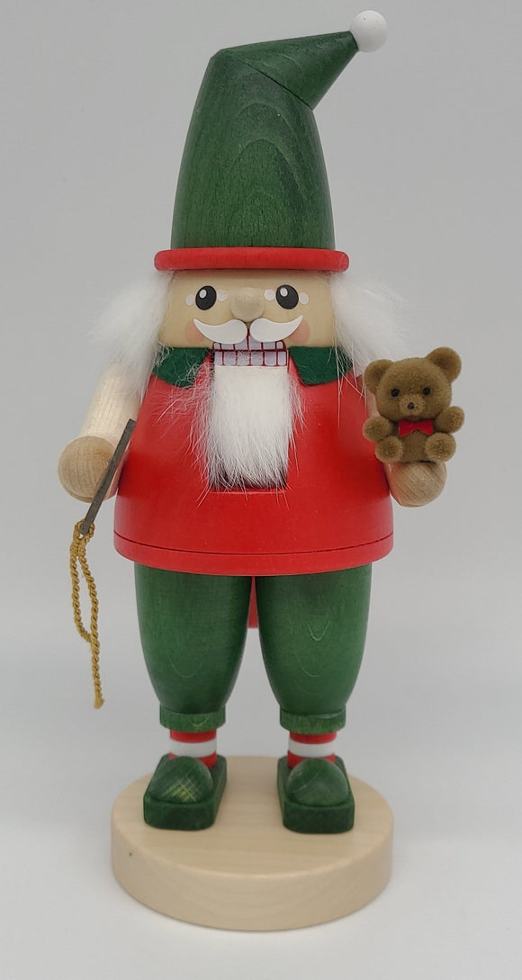 Handmade German 9 inch Nutcracker dwarf with Teddy Bear - Schmidt Christmas Market Christmas Decoration