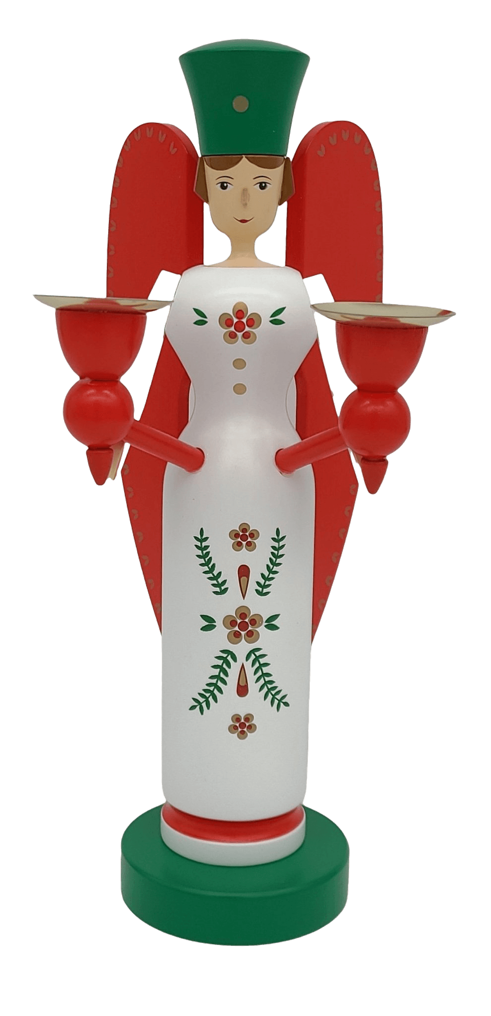 Handmade German Angel 10 pulgada na may-hawak ng kandila - Schmidt Christmas Market Christmas Decoration