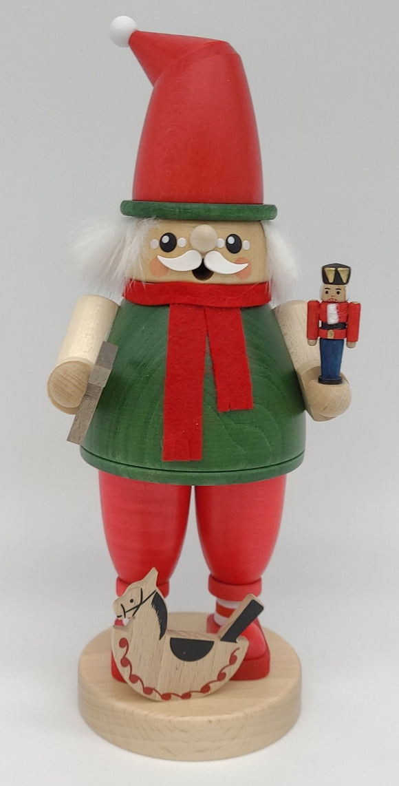 Handmade German Full Size Smoker dwarf with hammer and toys - Schmidt Christmas Market Christmas Decoration