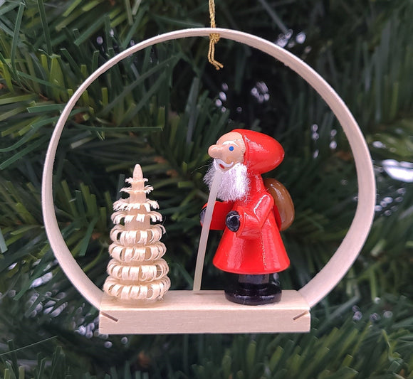 Handmade Hanging Santa Clause Ornament - Schmidt Christmas Market Christmas Decoration