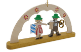 Handmade Hanging Schwibbogen Oktoberfest visitors Ornament - Schmidt Christmas Market Christmas Decoration