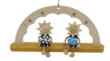 Handmade Hanging Schwibbogen stars and cloud Ornament - Schmidt Christmas Market Christmas Decoration