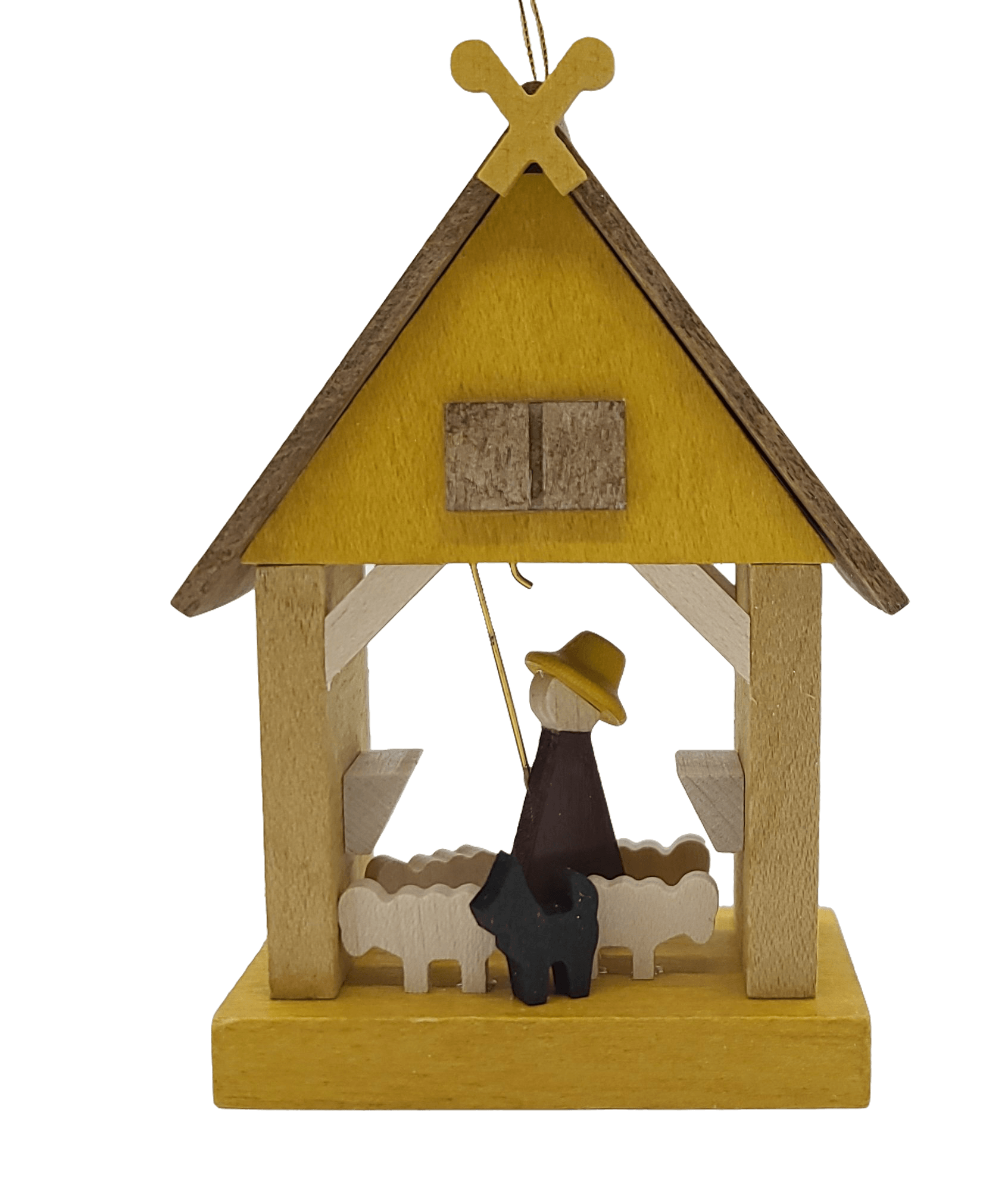 Handmade Hanging Shepherds House Ornament - Schmidt Christmas Market Christmas Decoration