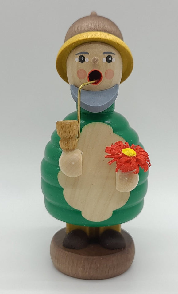 Handmade Mini-Smoker Dwarf with Flower - Schmidt Christmas Market Christmas Decoration