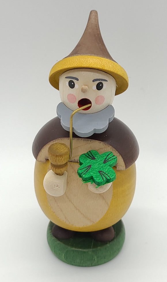 Handmade Mini-Smoker Dwarf with four left clover - Schmidt Christmas Market Christmas Decoration