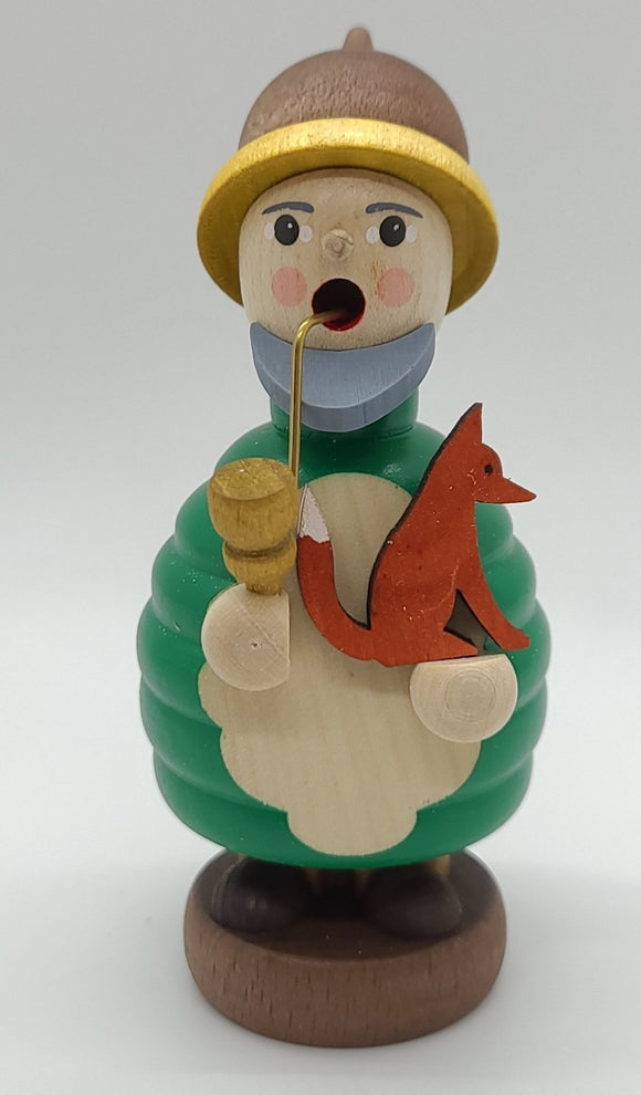 Handmade Mini-Smoker Dwarf with Fox - Schmidt Christmas Market Christmas Decoration
