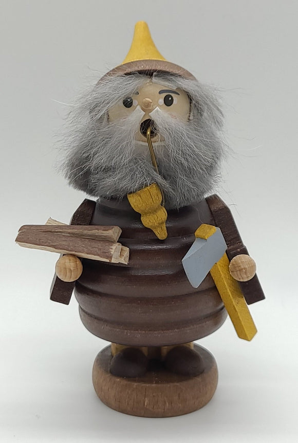 Handmade Mini-Smoker Wood gnome woodmaker - Schmidt Christmas Market Christmas Decoration