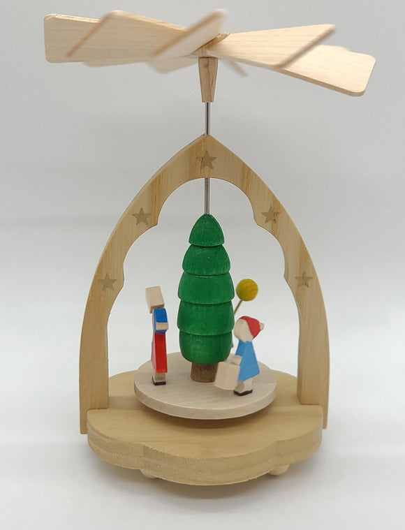 Handmade Miniature-Pyramid Children with Lantern - Schmidt Christmas Market Christmas Decoration