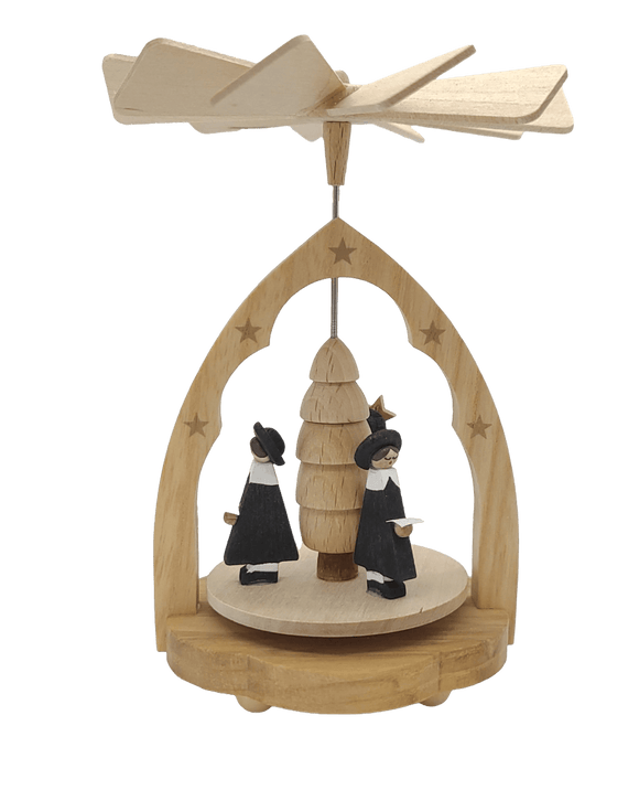 Handmade Miniature-Pyramid with Carolers 4.5 inch - Schmidt Christmas Market Christmas Decoration