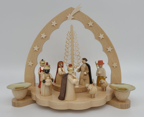 Handmade Nativity Candle Holder - Schmidt Christmas Market Christmas Decoration