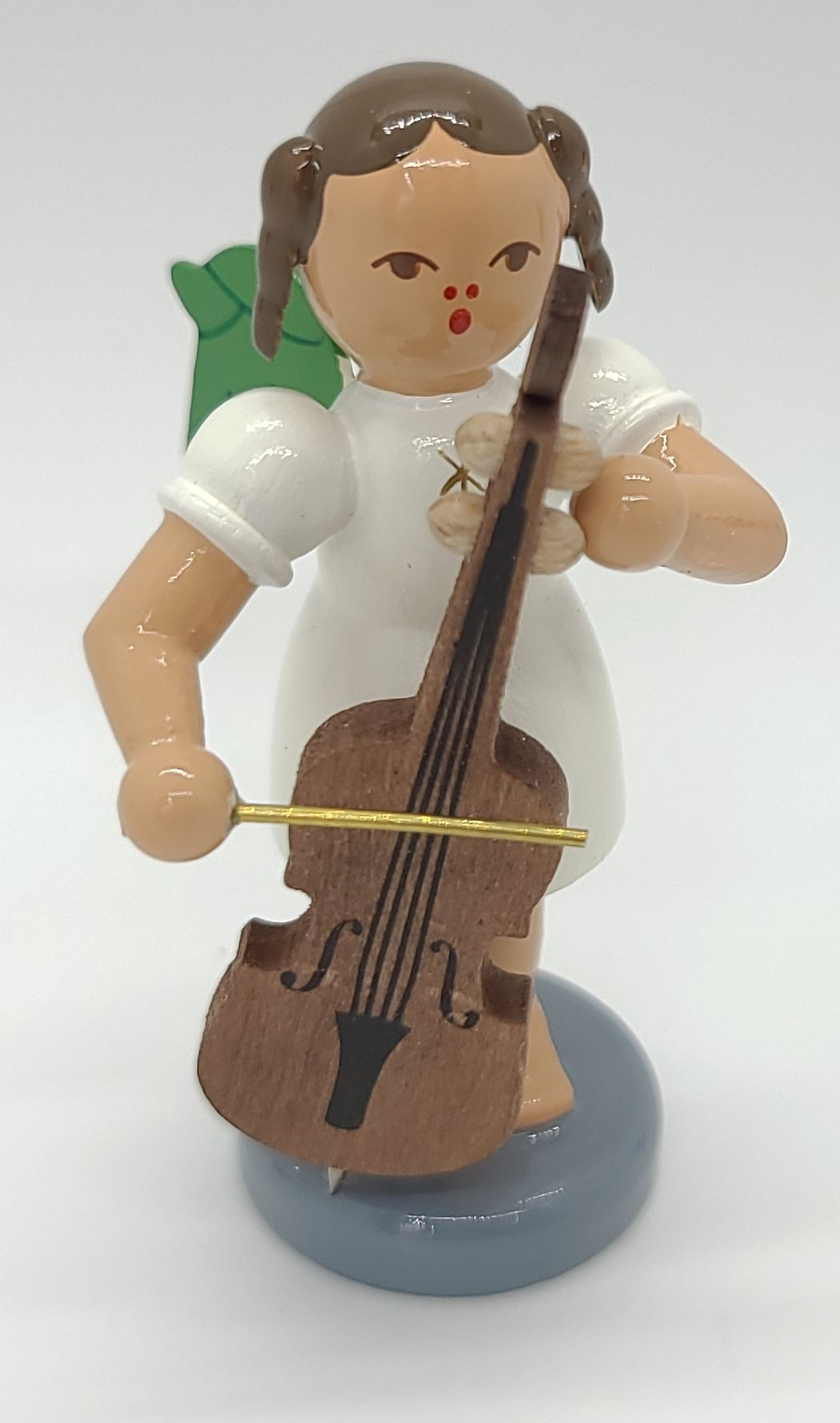 Handmade Wood Angel with Cello 2.4 inch - Schmidt Christmas Market Christmas Decoration