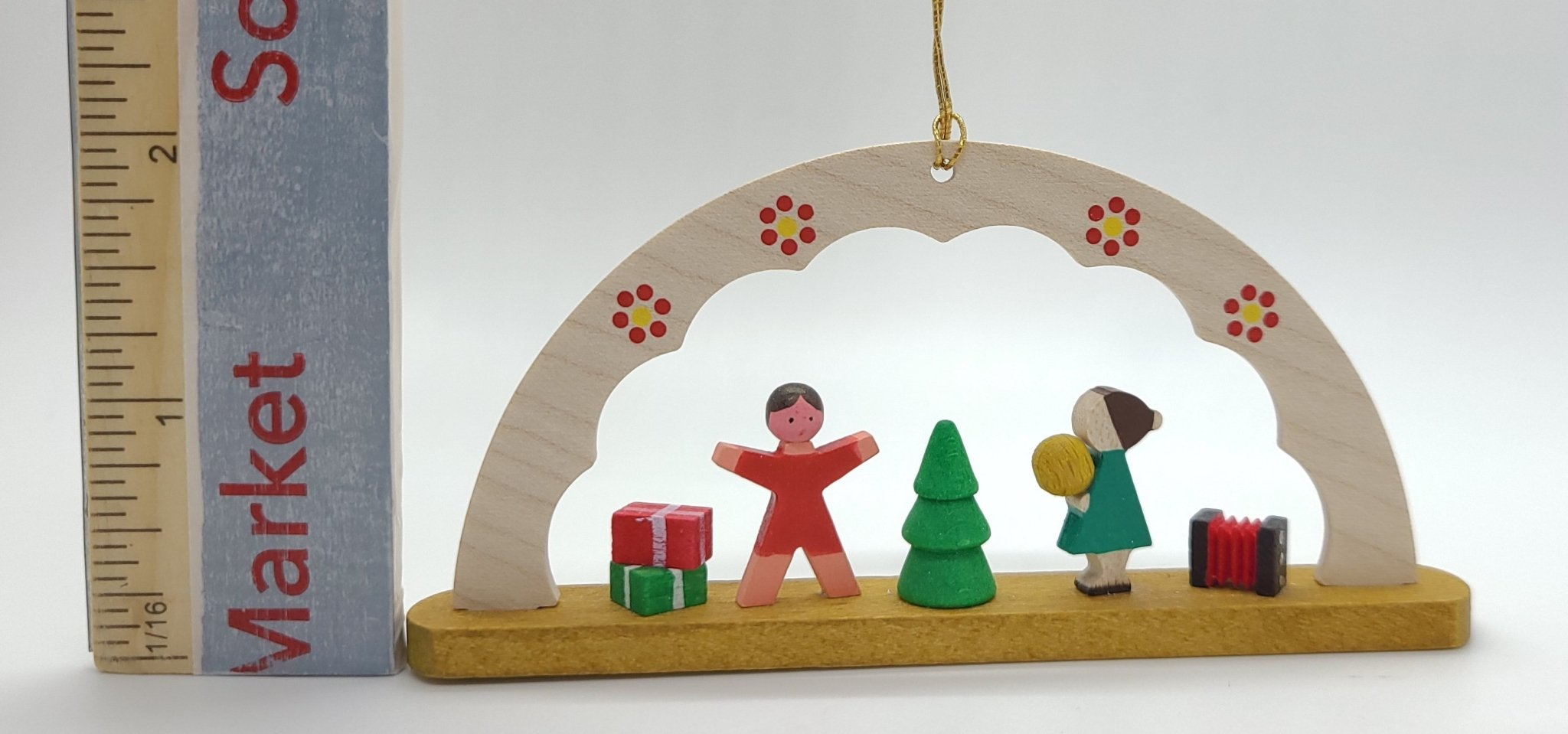 Handmade Wood Hanging Arch Children Playing Ornament - Schmidt Christmas Market Christmas Decoration