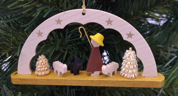 Handmade Wood Hanging Arch Shepherd Ornament - Schmidt Christmas Market Christmas Decoration
