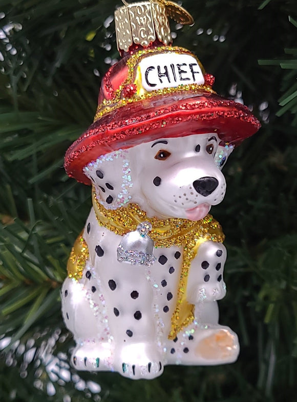 Hanging Blown Glass Dalmatian Pup Christmas Ornament - Schmidt Christmas Market Christmas Decoration
