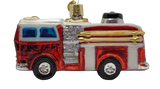 Hanging Blown Glass Fire Truck Christmas Ornament - Schmidt Christmas Market Christmas Decoration