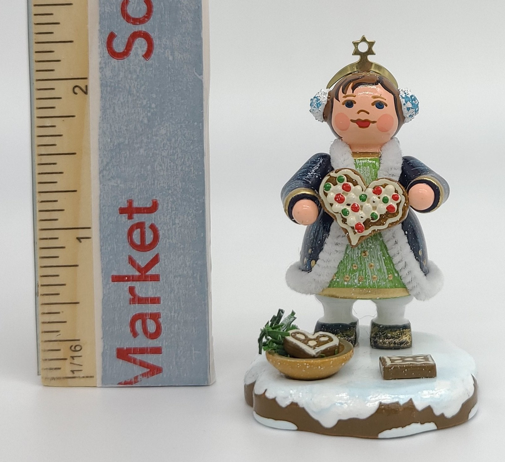 "Heavenly Child ""Gingerbread Hearts"" 2.6 inches tall German handmade Decoration - Schmidt Christmas Market Christmas Decoration"
