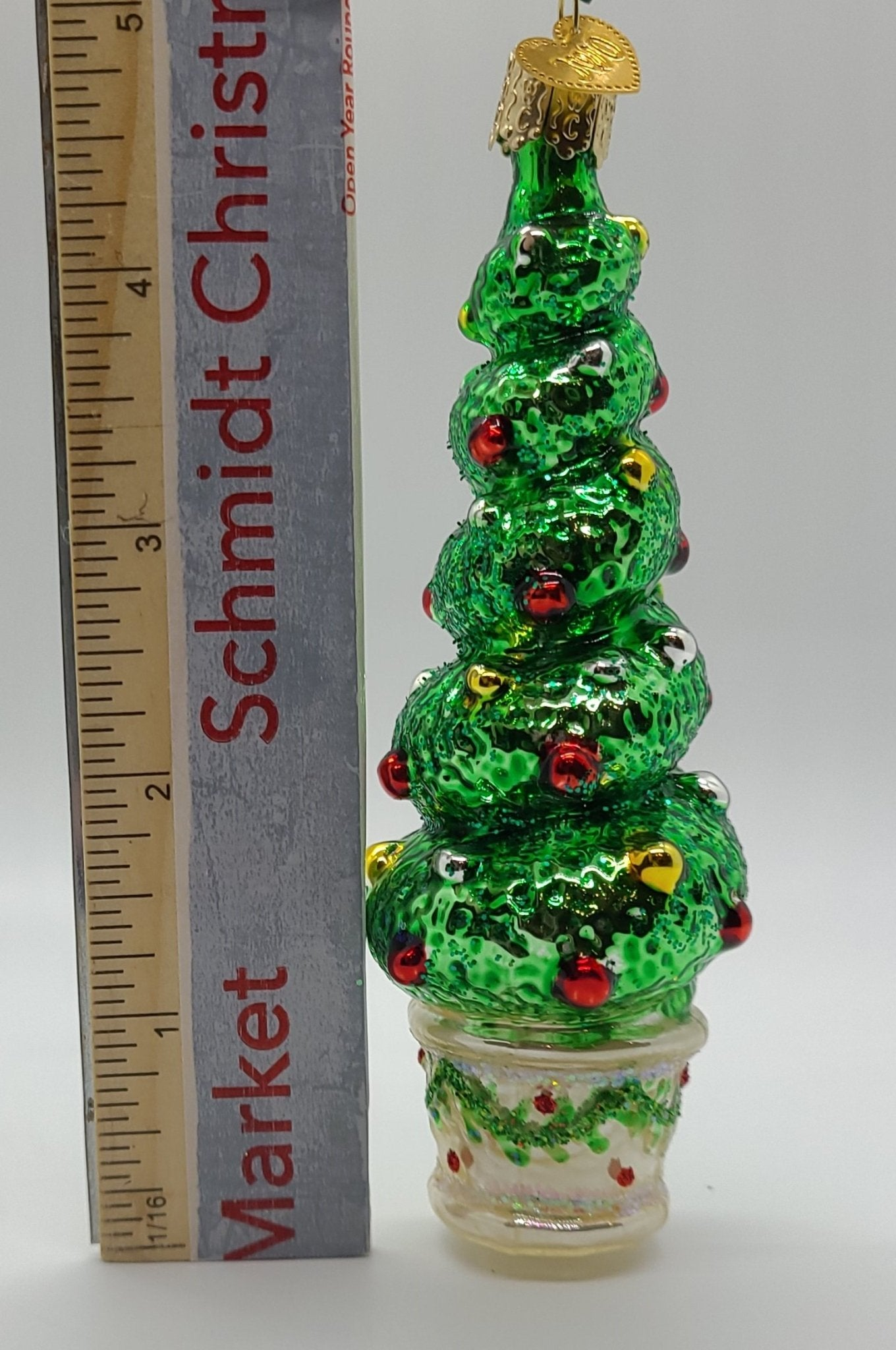 Holiday Topiary Ornament - Schmidt Julemarked Julepynt
