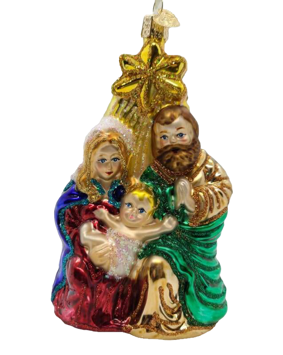 Holy Family With Star Ornament - Schmidt Christmas Market Christmas Decoration