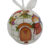 Home Sweet Home Igloo with Snowmen Bauble - Schmidt Christmas Market Christmas Decoration