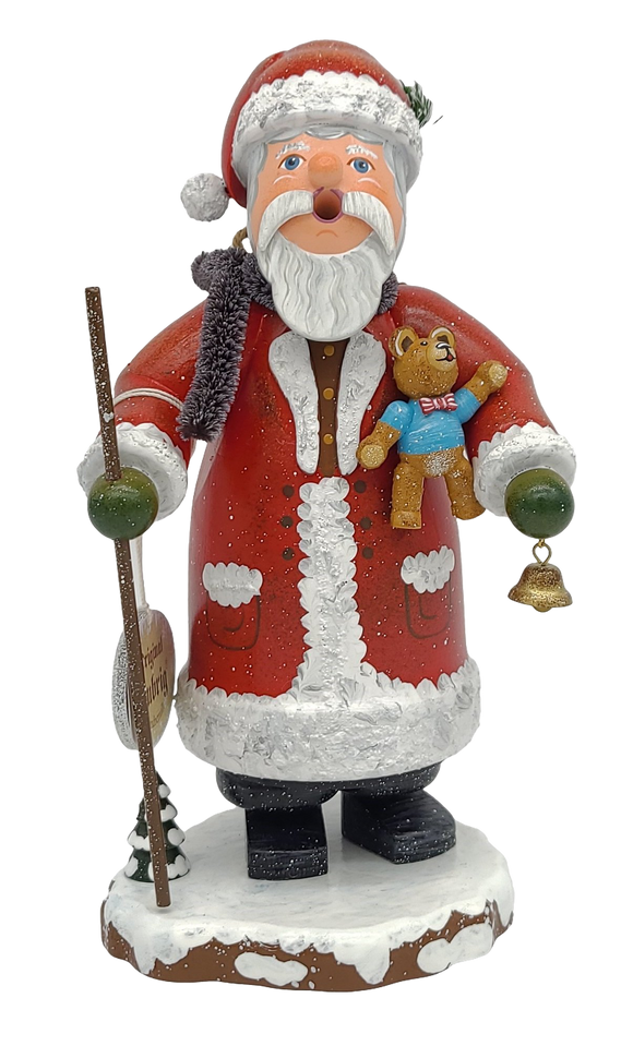 Hubrig German Smoker Santa 8inch Incense Burner - Schmidt Christmas Market Christmas Decoration