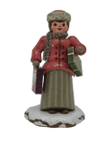 Hubrig Winter Child Christmas Shopping 3 inch German handmade Decoration - Schmidt Christmas Market Christmas Decoration