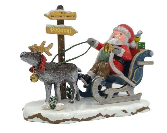 Hubrig Winter Child Hurray Santa Claus is coming 3.2 inches German handmade Decoration - Schmidt Christmas Market Christmas Decoration