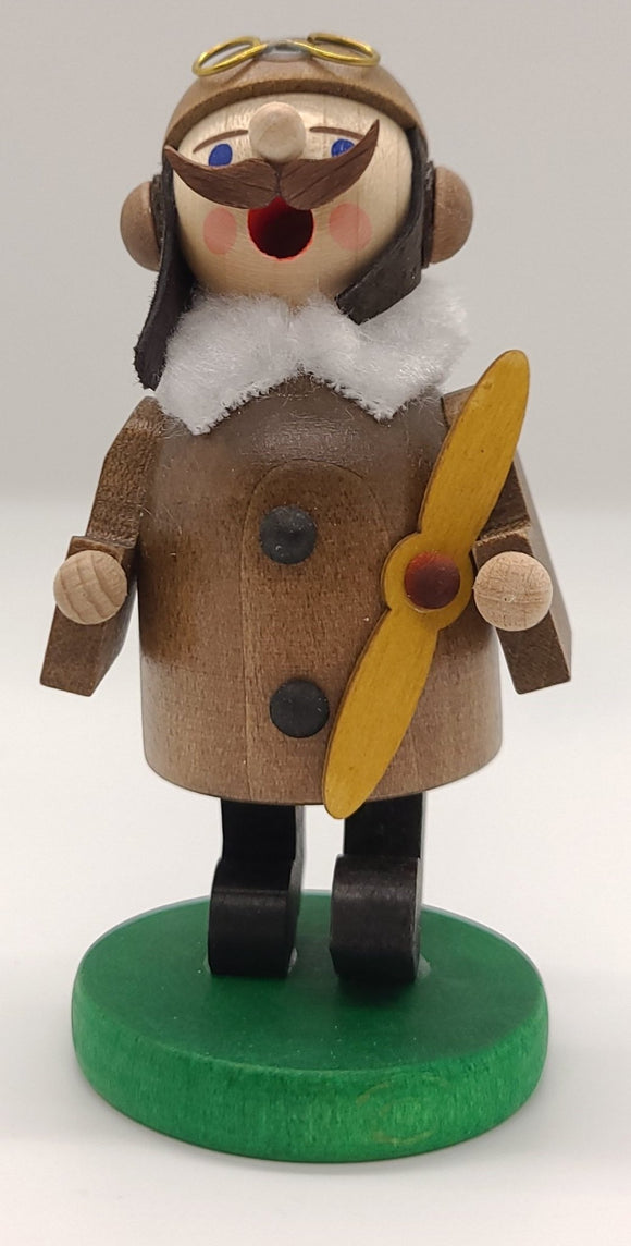 Mini-Smoker Aviator historical 4 inch Decoration - Schmidt Christmas Market Christmas Decoration