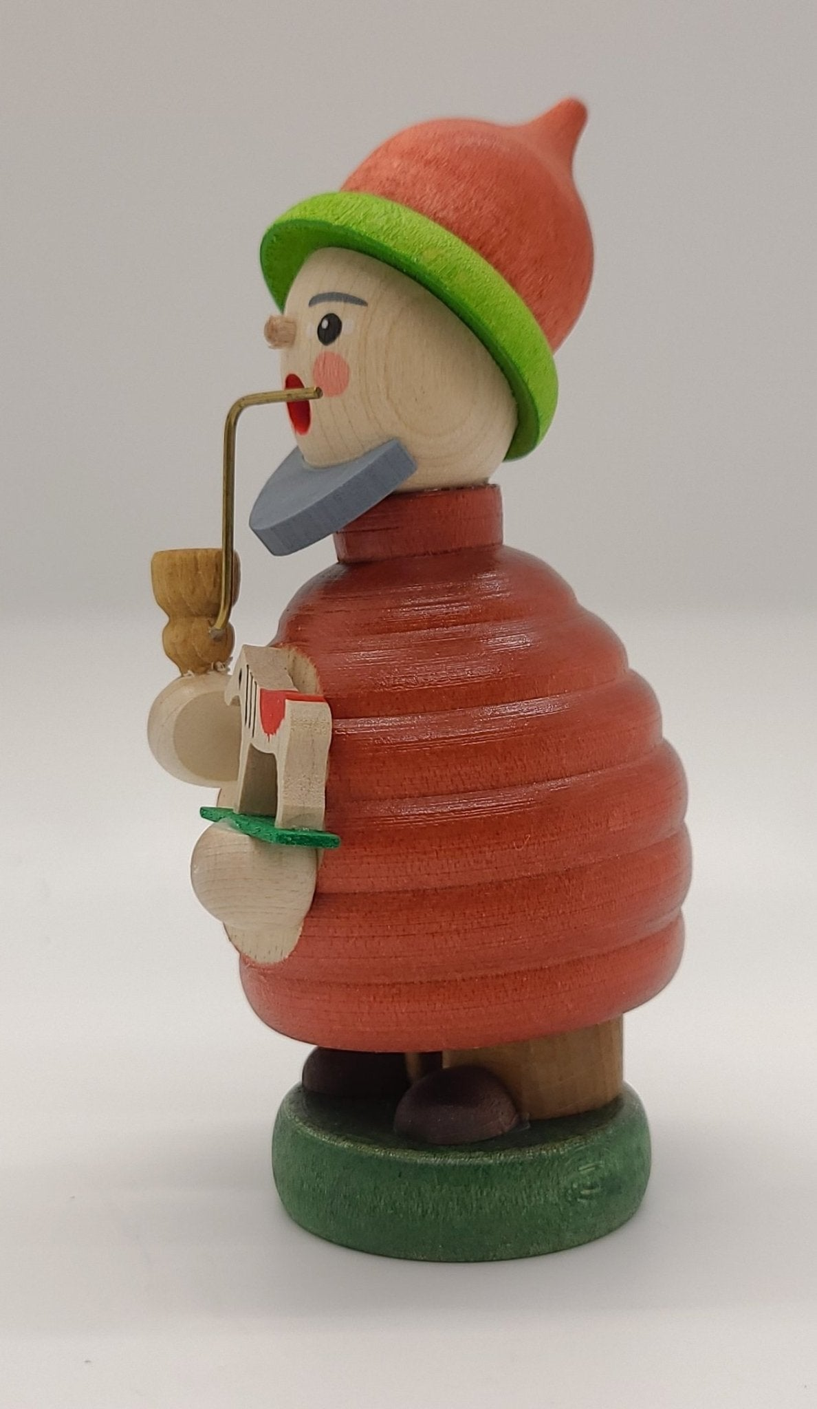 Mini-Smoker Dwarf with Horse 4 inch Decoration - Schmidt Christmas Market Christmas Decoration