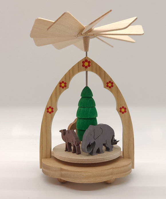 Miniature Pyramid Zoo 4.5 inch - Schmidt Christmas Market Christmas Decoration