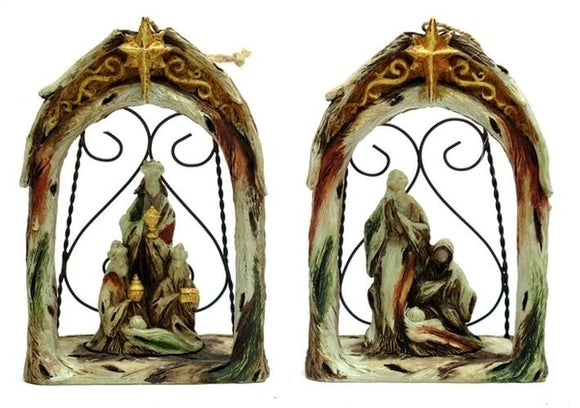 Nativity Ornament Set of 2 - Schmidt Christmas Market Christmas Decoration