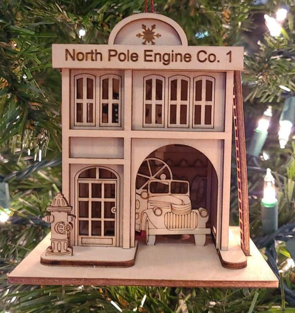 North Pole Engine Company Firehouse - Schmidt Christmas Market Christmas Decoration