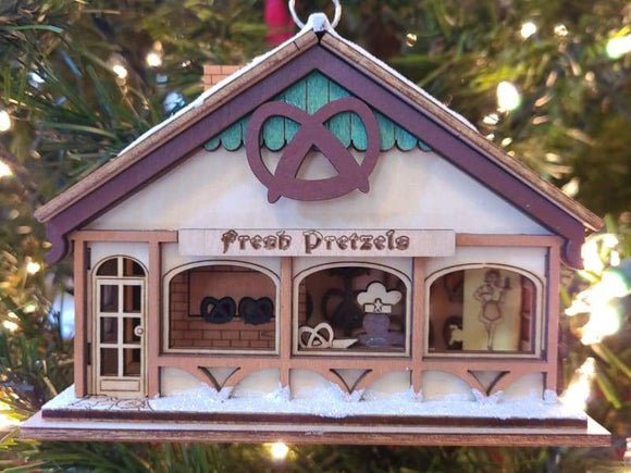 Peppermint Twist Pretzel Shop - Schmidt Christmas Market Christmas Decoration
