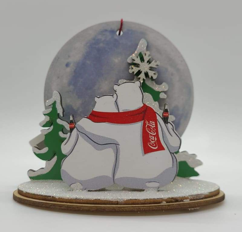 Polar Bear Moon Watch Coca-Cola - Schmidt Christmas Market Christmas Decoration