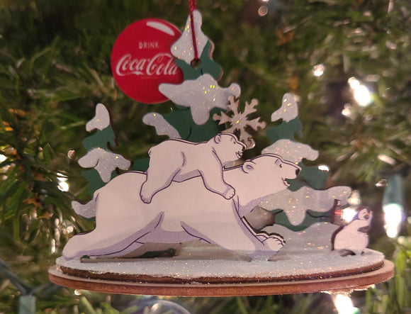 Polar Bears Penguin - Schmidt Christmas Market Christmas Decoration