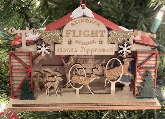 Reindeer Flight School - Schmidt Christmas Market Christmas Decoration