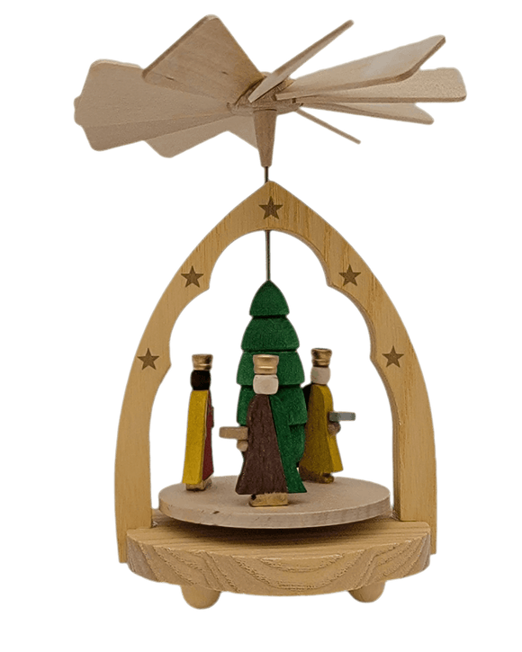 Richard Glaesser Handmade Colorful Three Kings Miniature Pyramid - Schmidt Christmas Market Christmas Decoration