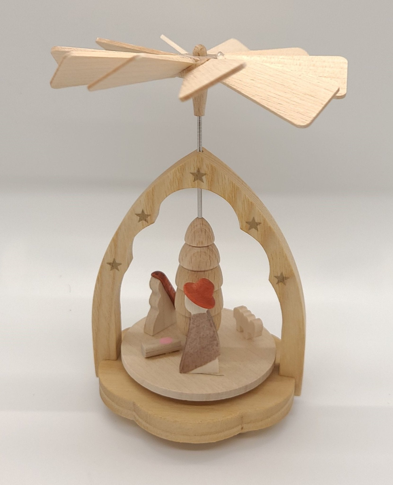 Richard Glaesser Miniature Pyramid Nativity - Schmidt Julemarked Julepynt