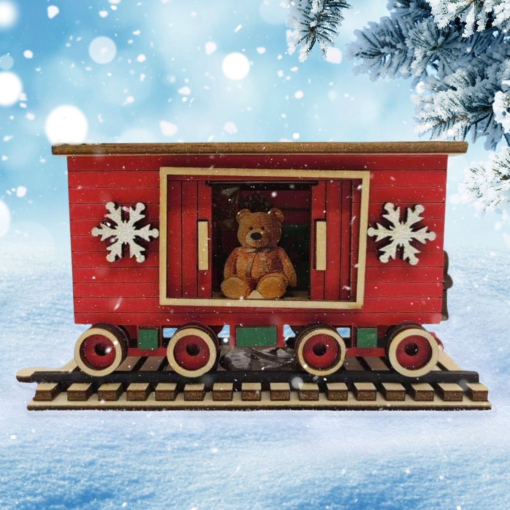 Santa's NP Express Box Car Christmas Village - Schmidt Christmas Market Christmas Decoration