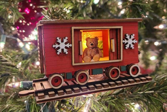 Santa's NP Express Box Car - Schmidt Christmas Market Christmas Decoration