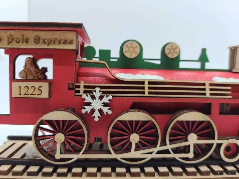Santa's NP Express Engine - Schmidt Christmas Market Christmas Decoration