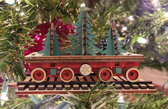 Santa's NP Express Flat Car - Schmidt Christmas Market Christmas Decoration