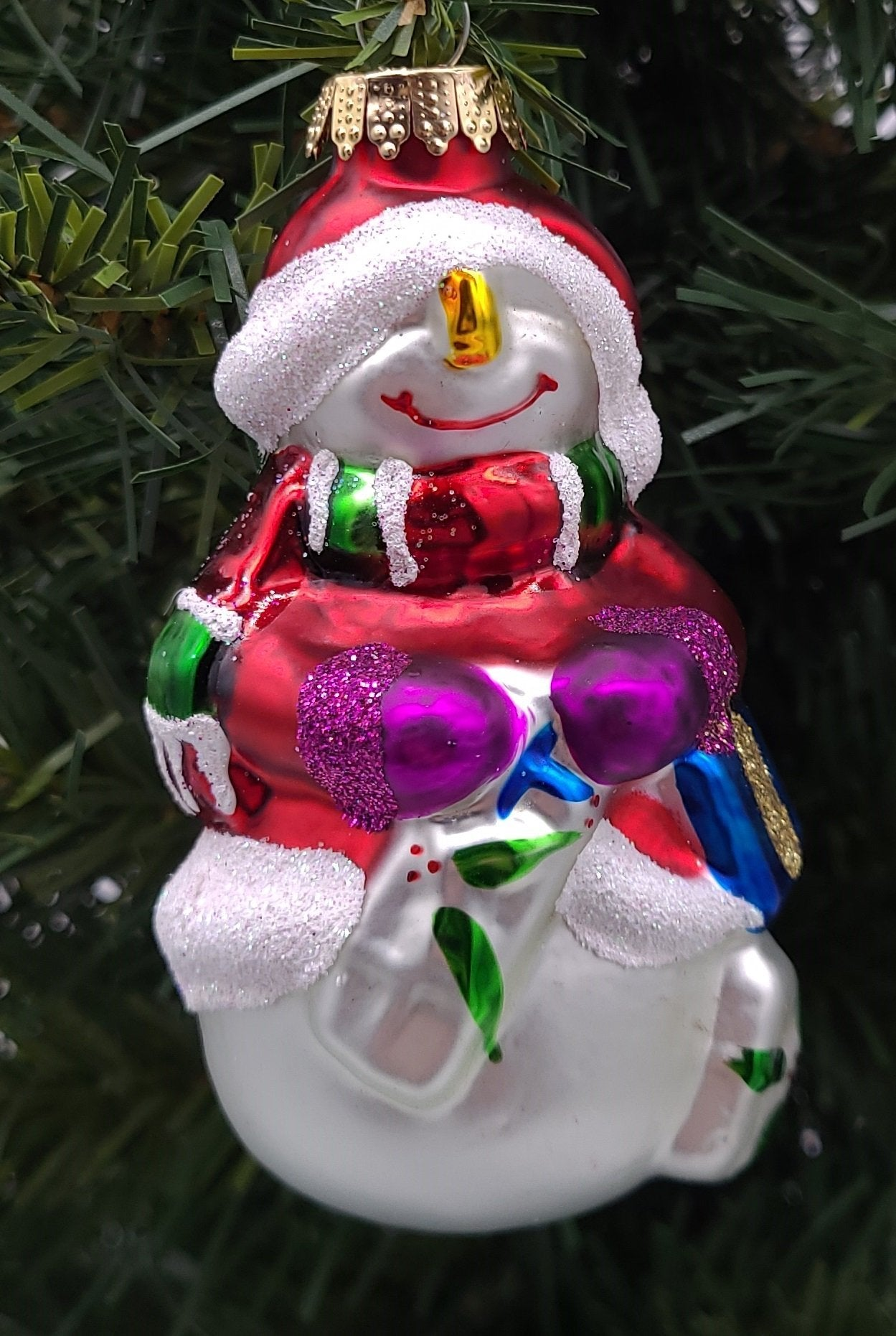 Silly Snowman Ornament - Schmidt Christmas Market Christmas Decoration