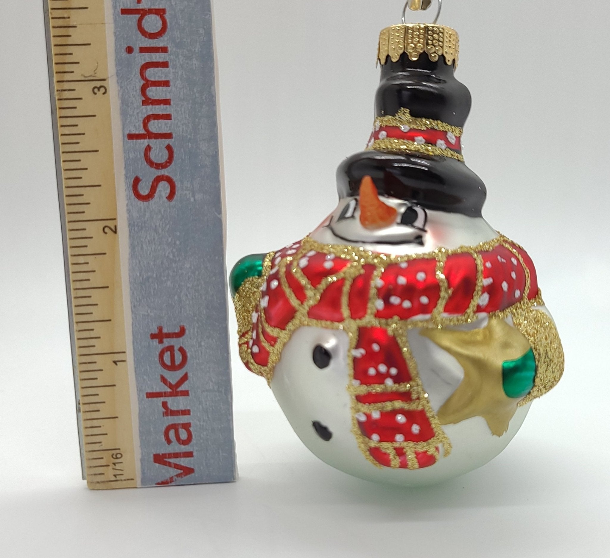 Snowball Glass Ornament - Schmidt Julemarked Julepynt