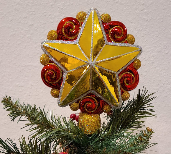 Swirly Star Tree Topper - Schmidt Christmas Market Christmas Decoration