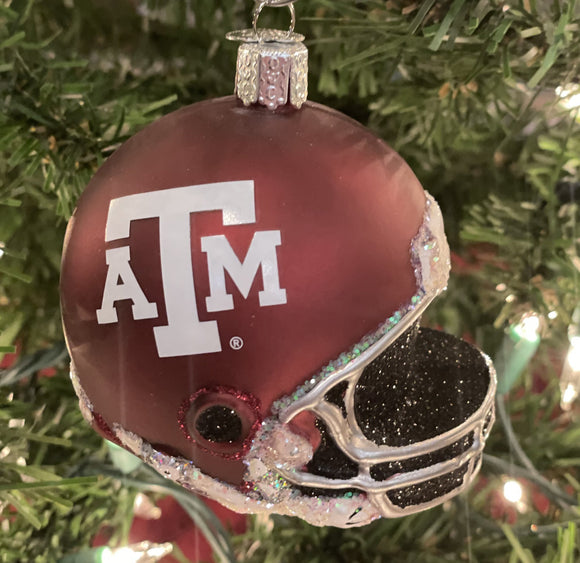 Texas A&M Helmet Ornament - Schmidt Christmas Market Christmas Decoration