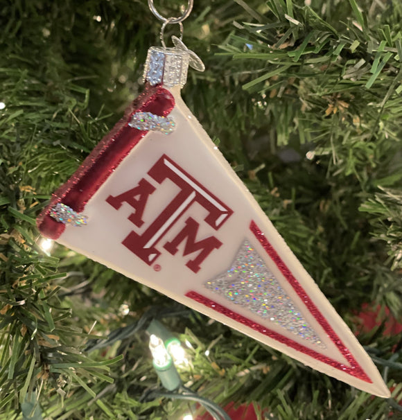 Texas A&M Pennant Ornament - Schmidt Christmas Market Christmas Decoration