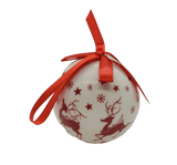 White Bauble na Red Reindeers - Schmidt Christmas Market Dechọ Mma Christmaschọ Mma