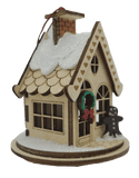 Wood Gingerbread Cottage Christmas Village - Schmidt Christmas Market Christmas Decoration