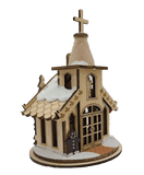 Wood Nativity Chapel Christmas Village - Schmidt Christmas Market Christmas Decoration