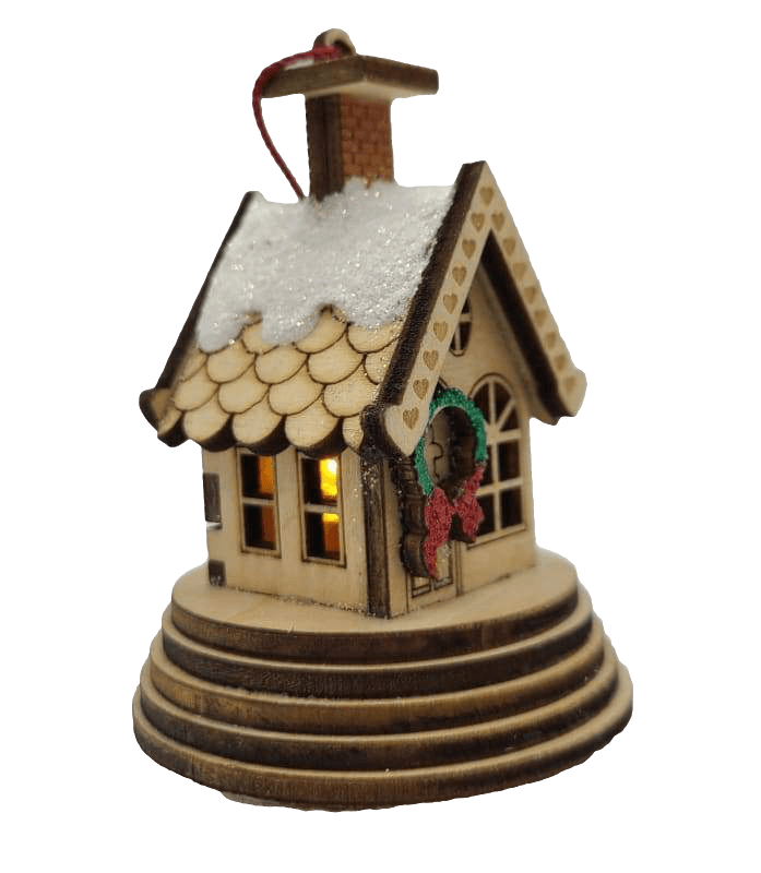 Wood Village Elf Cottage Christmas Village - Schmidt Julemarked Julepynt